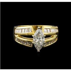 2.17 ctw Diamond Ring - 14KT Yellow Gold
