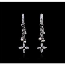 14KT White Gold 1.25 ctw Diamond Earrings
