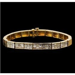 14KT Yellow Gold 3.35 ctw Diamond Bracelet