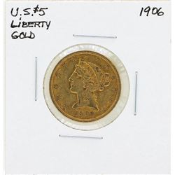 1906 $5 Liberty Head Half Eagle Gold Coin