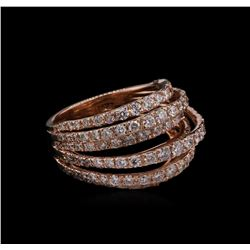2.33 ctw Diamond Ring - 14KT Rose Gold