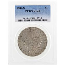 1884-S $1 Morgan Silver Dollar Coin PCGS XF40