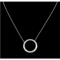 0.50 ctw Diamond Necklace - 14KT White Gold