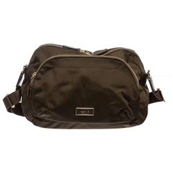 Aguis B. Voyage Dark Green Nylon Messenger Handbag