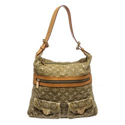 Louis Vuitton Green Monogram Denim Baggy GM Bag