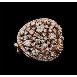 14KT Rose Gold 2.34 ctw Diamond Ring