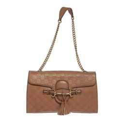 Gucci Mauve Guccissima Emily Chain Shoulder Bag