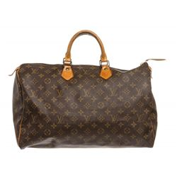 Louis Vuitton Monogram Canvas Leather Speedy 40 cm Bag
