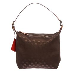 Dooney & Bourke Brown Monogram Canvas Hobo Handbag
