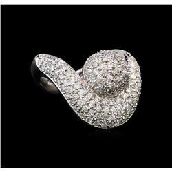 14KT White Gold 1.06 ctw Diamond Ring