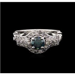 1.30 ctw Fancy Blue Diamond Ring - 14KT White Gold