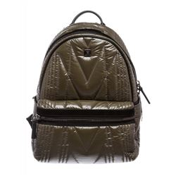 MCM Green Quilted Kissen Backpack