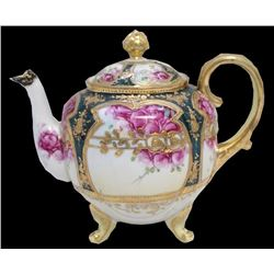 Hand Painted Nippon Porcelain Tea Pot