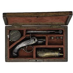 "1830's Cased ""peanut"" Derringer"