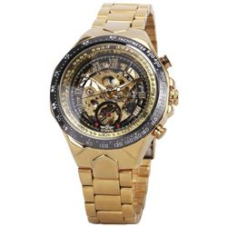 Semi-Automatic Mechanical Watch Men Big Dial Skeleton Hollowed-out