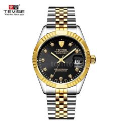 TEVISE Luxury Wristwatch Waterproof Semi-automatic Men Mechanical Watch