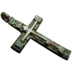Late Medieval Period Church Bronze Cross