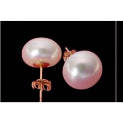 10-11mm White-Natural Sea Pearls Earring 14k + box