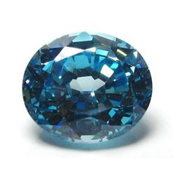 9ct Oval Blue BIANCO Diamond