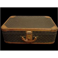 Vintage Louis Vuitton Monogrammed Canvas Suitcase