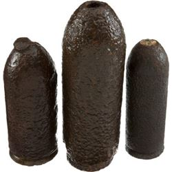 3 Excavated Civil War Parrott Projectiles