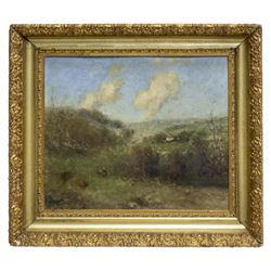 Framed Impressionistic Landscape On Art Board