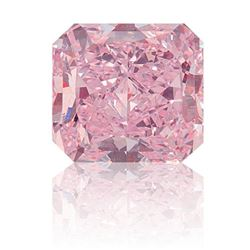 1.5 ct Pink Radiant Cut BIANCO Diamond