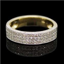 Diamond & Gold Wedding Band Ring