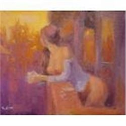 Signed Contemporary Russian Impressionist Oil Painting,