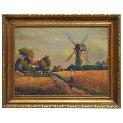 Framed Dutch School Oil Painting On Board
