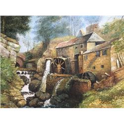Student of Creswick, Old Mill Oil Painting