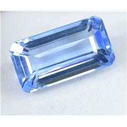 21.25 Carat Emerald Shape EGL Certified Blue Topaz Loose Gemstone