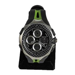 Men's Black & Green Digital Sports Watch