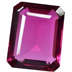 59.20 Ct Emerald Shape EGL Certified Pink Topaz Gemstone