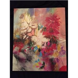 Abstract Floral Still Life, Studio Wrap Oil Painting