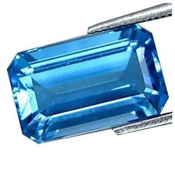 4.20Ct Best Color & Good Cutting Nice Gem - Natural Swiss BLUE TOPAZ