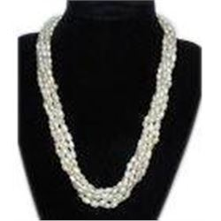 Freshwater Pearl Necklace 5 Strand 6-7 mm 18''