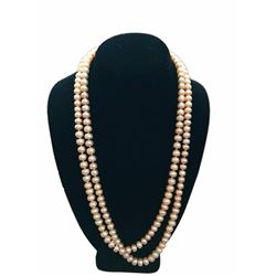 "50"" Strand 7-9mm Pink Freshwater Pearl 14kt Necklace"