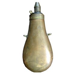19th Century Copper & Brass Powder Flask
