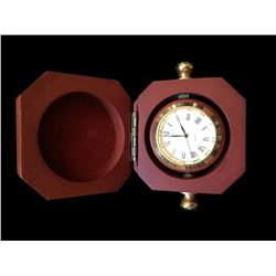 Wooden Rotating Travel Trinket Box Clock