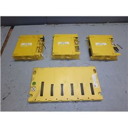 FANUC A03B-0819-C002 ABU05A; W/ 3 MODULES *SEE PICS FOR NUMBERS*