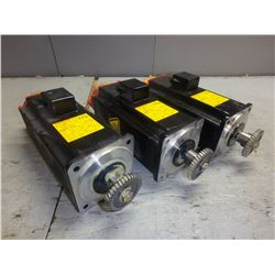 FANUC *LOT OF 3* A06B-0377-B175 AC SERVO MOTORS W/ A860-0360-T001 PULSECODER