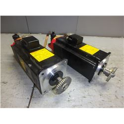 FANUC *LOT OF 2* A06B-0377-B175 AC SERVO MOTORS W/ A860-0360-T001 PULSECODER