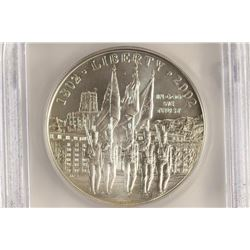 2002-W WEST POINT COMMEMORATIVE DOLLAR ICG MS70