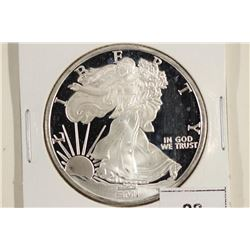 1 TROY OZ .999 FINE SILVER PROOF ROUND LADY LIB. /
