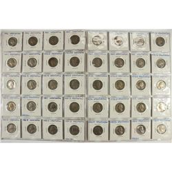 40 ASSORTED 1965-1989 WASHINGTON QUARTERS SOME