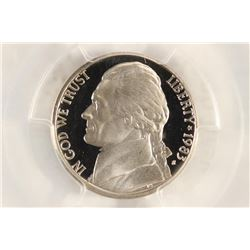 1983-S JEFFERSON NICKEL PCGS PR69 DCAM