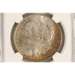 1885-O MORGAN SILVER DOLLAR NGC MS63 WITH TONING