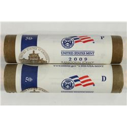 ROLLS OF 2009-P & D PRESIDENCY LINCOLN CENTS UNC