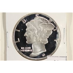 1 TROY OZ .999 FINE SILVER PROOF ROUND MERCURY